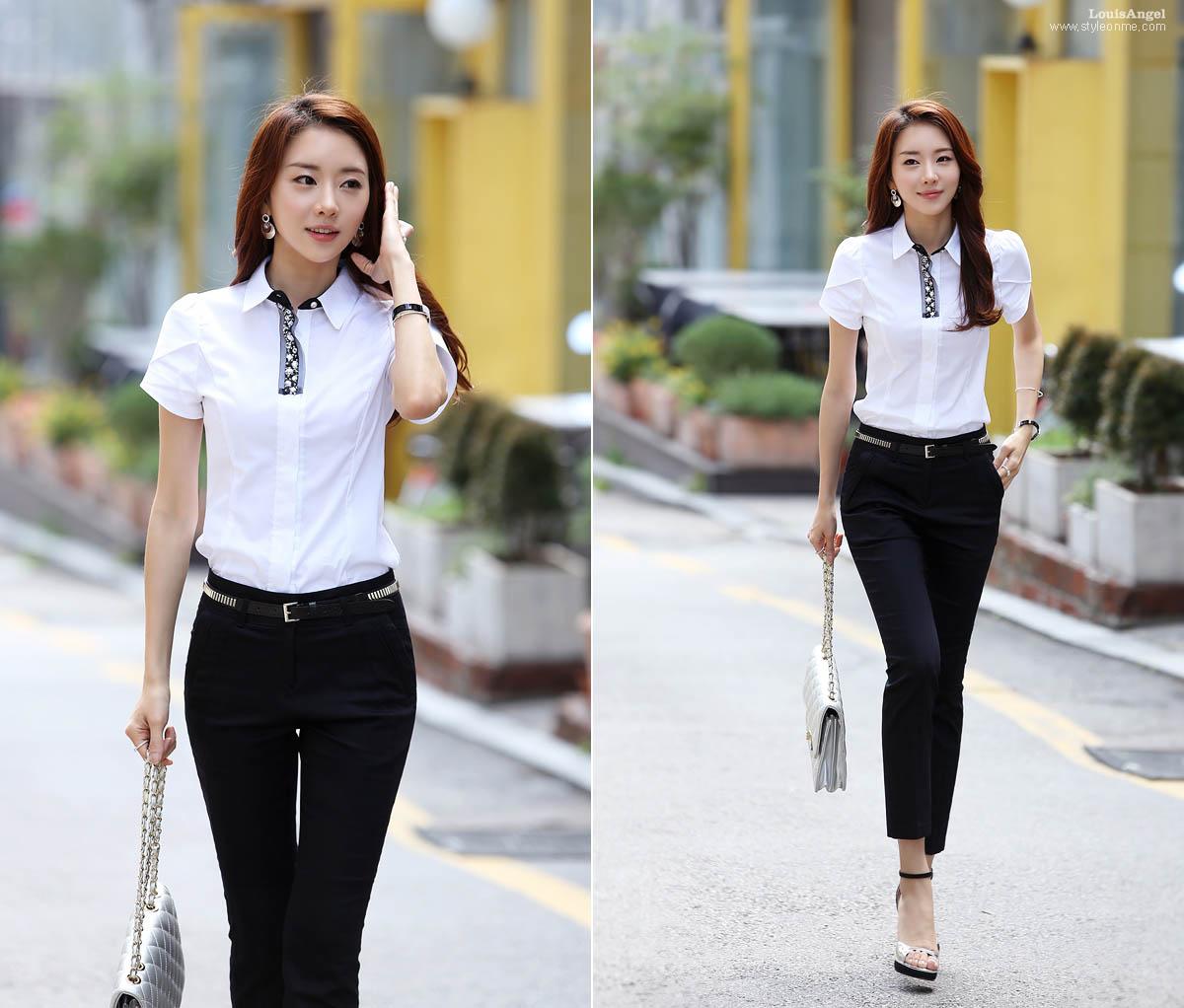 Kemeja Cantik Untuk Wanita Karir Toko Baju Online Jual Kemeja Wanita Baju Korea Atasan