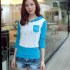 BAJU WANITA KOREA MODEL SWEATER BIRU