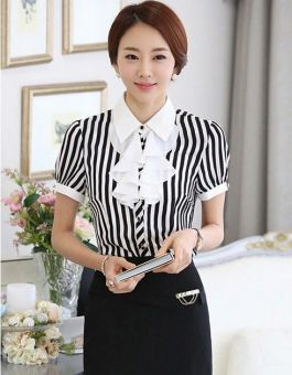 BLOUSE WANITA MODEL GARIS-GARIS 2015