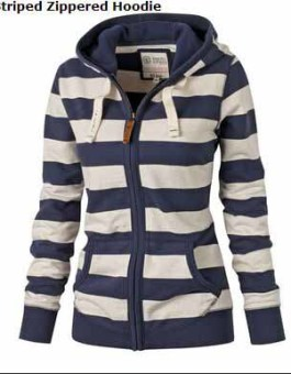 JAKET GARIS-GARIS MODIS SIMPLE 2016