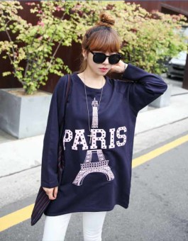 KAOS PARIS BIRU IMPORT TERBARU 2016