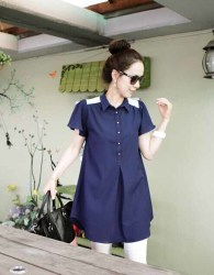 BLOUSE BIRU MODIS KOREA IMPORT 2016