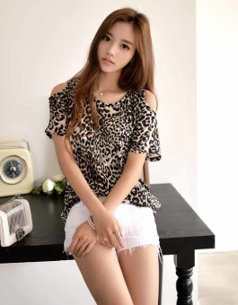 BLOUSE LEOPARD MODEL TERBARU IMPORT