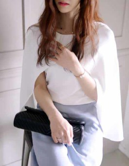 BLOUSE PUTIH SIMPLE IMPORT 2016