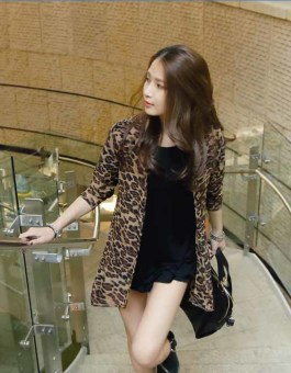 CARDIGAN LEOPARD FASHIONABLE IMPORT 2016