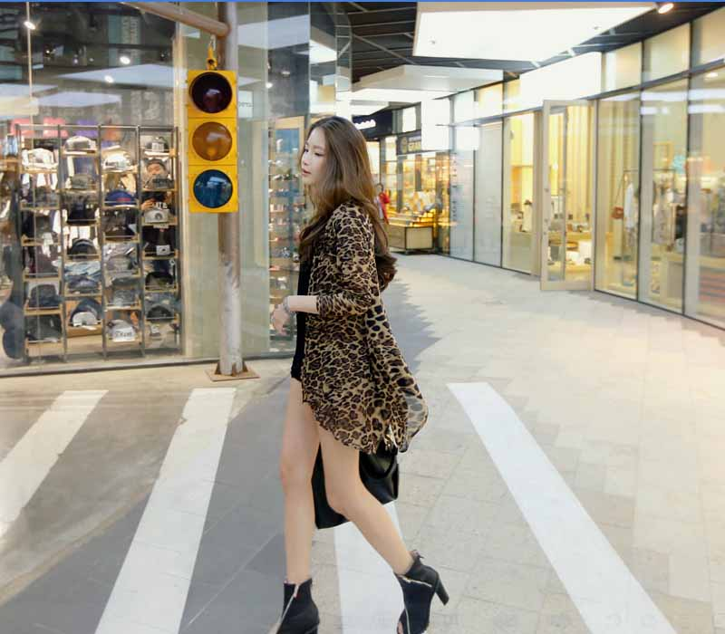 CARDIGAN LEOPARD FASHIONABLE IMPORT 2016 TERBARU