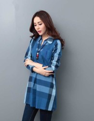 baju-atasan-biru-lengan-panjang-simple-fashion