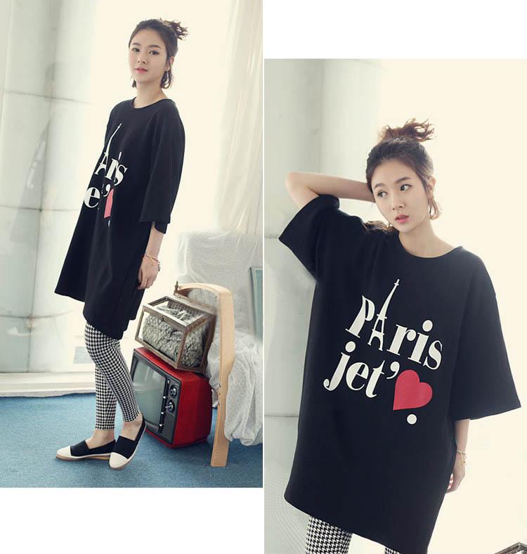baju-kaos-hitam-gambar-paris-cantik-fashion