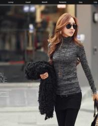 baju-turtleneck-wanita-korea-simple