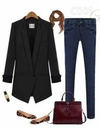 blazer-wanita-korea-warna-hitam-terbaru-modis