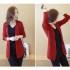 cardigan-blazer-merah-cantik-terbaru-korea
