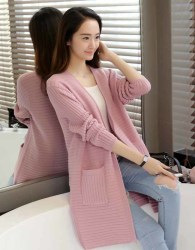 cardigan-sweater-pink-cantik-casual