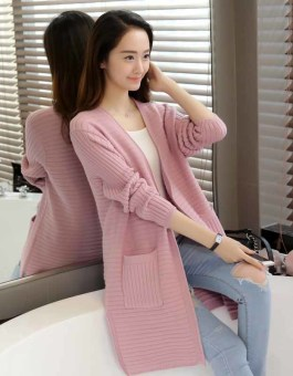 CARDIGAN SWEATER PINK CANTIK CASUAL