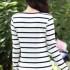 jual-kaos-wanita-stripes-putih-simple