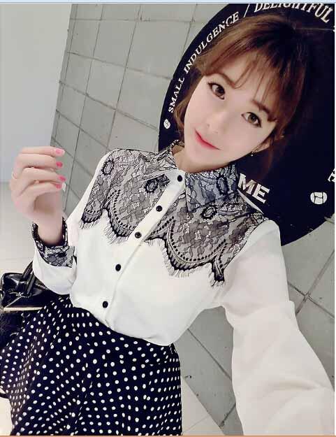kemeja-putih-renda-cantik-simple-korea-2016