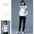 sweater-putih-motif-bunga-cantik-terbaru-korea