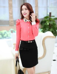 KEMEJA PINK MODIS ELEGANT IMPORT FASHION