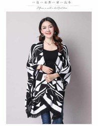 CARDIGAN WANITA MOTIF TRIBAL SIMPLE HANGAT