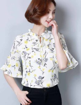 BLOUSE MOTIF BUNGA SIMPLE CANTIK TERBARU